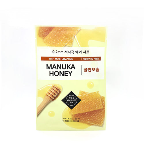 [Etude house] 0.2mm Therapy Air Mask Hypo-Allergenic Sheets Perfect For Sensitive Skin Refreshing Water Type Essence