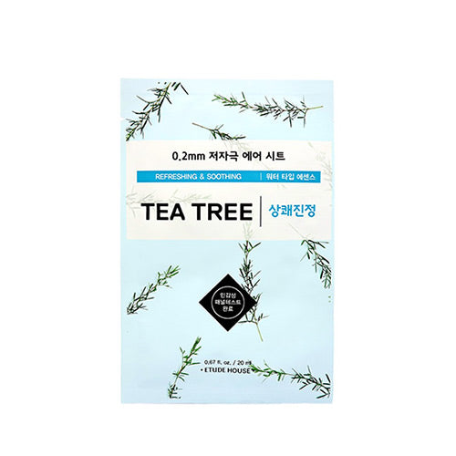 Load image into Gallery viewer, [Etude house] 0.2mm Therapy Air Mask Hypo-Allergenic Sheets Perfect For Sensitive Skin Refreshing Water Type Essence