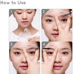 [Etude house] Mini Brow Class Drawing Guide Eyebrow Shaping Guide Card Measure Template Shaper
