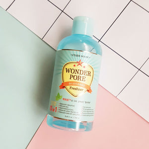 Etude house Wonder Pore Freshner, 250ml, Facial Cleansers, 10 in 1, Pore Care, Preventing Enlarged Pores WITHOUT Mineral Oil, Fragrance, Coloring, Talc, Etc.