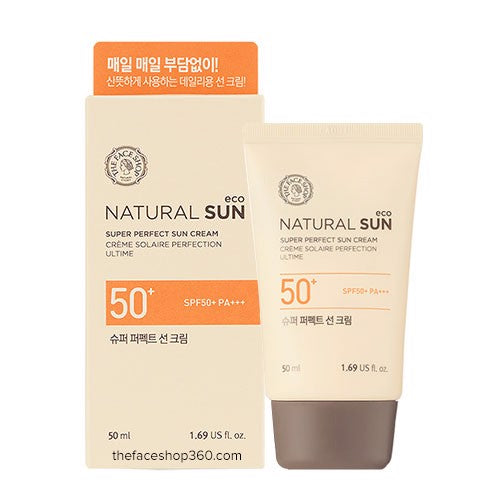 [The face shop] Naturalsun Eco Super Perfect Sunblock 50ml UVA&UVB