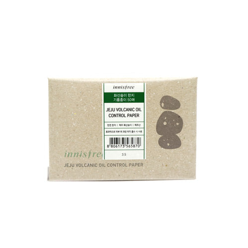 [Innisfree] Eco Beauty Tool Jeju Volcanic Oil Control Paper 50 Sheets Blotting Control Natual Ingridients Eco-Friendly