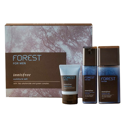 [Innisfree] Forest for men moisture set (Mosturizer skin 180ml+Moisturizer&Anti-Wrinkle Lotion 120ml)