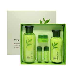 Load image into Gallery viewer, [Innisfree] Greentea Balancing Skin Care Set (For Normal To Combination Skin) 1set, 5pcs, Skin 200ml, Lotion 160ml