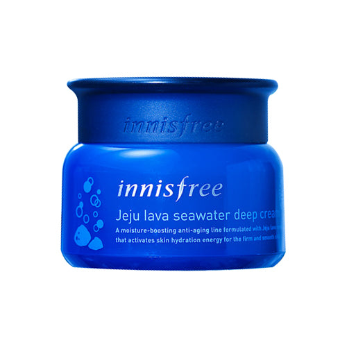[Innisfree] Jeju Lava Seawater Deep Cream 50ml Highly Moisturizing Hydrating Firming Care Rich Nutrients