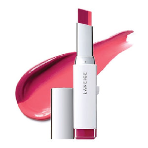 [Laneige] Two Tone Lip Bar #01 (Magenta Muse) Tinted Lipstick, Moisturizing Balm, Creamy Texture Moist Feeling With Vivid Color Combination