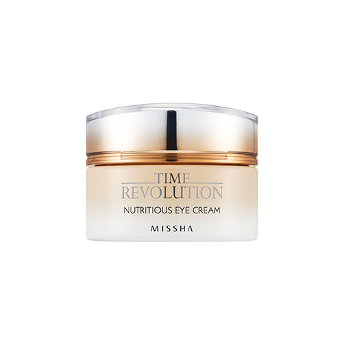 [Missha] Time Revolution Nutritious Eye Cream  Hydrating Moisturizing Treatment Herbal Angelica Chamomile Soothing Anti-Wrinkle Anti-Aging