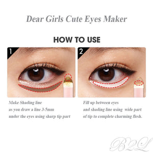 [Etude house] Dear Girls Cute Eyes Maker  2-Step Perfect Eyes Makeup with Argan Oil to keep your Skin Moisturized Kbeauty