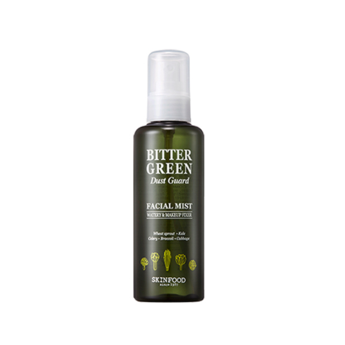 [Skinfood] Bitter Green Dust Guard Facial Mist Makeup Fixer Mist Moisturizes Dry Skin