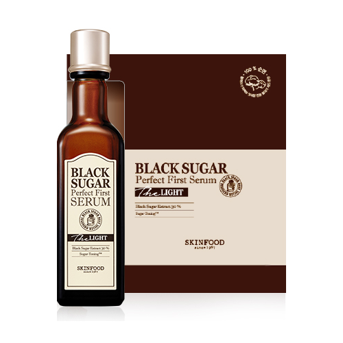 [Skinfood] Black Sugar Perfect First Serum Containing Fermented Black Sugar for Smooth & Pure Skin, First Step Skin Care Toner Serum