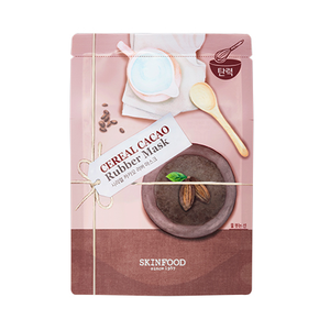 [Skinfood] Cereal Rubber Mask 25g 1ea Brightening Rice Moisturizing Oatmeal Firming Cacao DIY