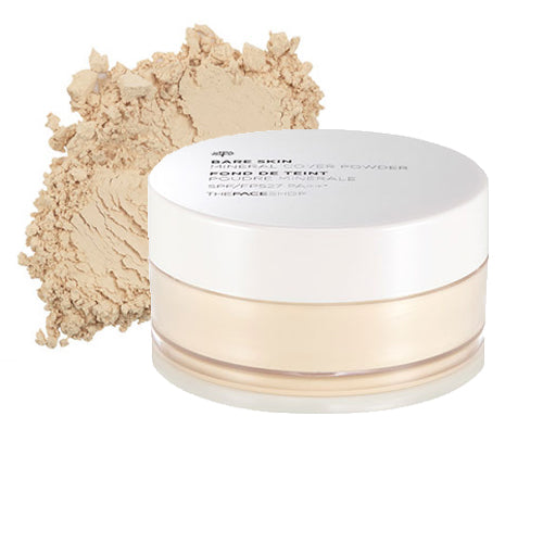 [The face shop] Bare Skin Mineral Cover Powder SPF27 PA++ Hawaiian Clay Sebum Control Blurring Effect Flawless Long Lasting Makeup Fresh and Translucent Finish
