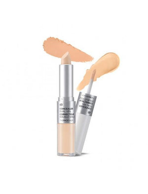 [The face shop] Concealer Dual Veil (V107 Ivory Beige) Full or Natural Coverage Long Lasting No Crease Enriched with Minerals Dual Everyday Makeup
