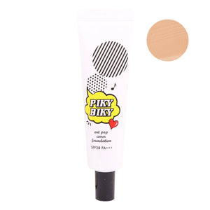 [Tonymoly] PIKY BIKY Art Pop Correcting Foundation UV Protect Semi-Matte Powdery Texture