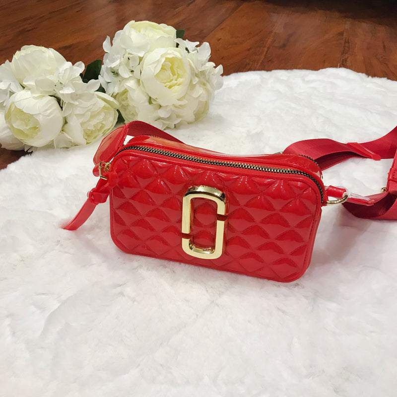 Ally Quilted Cross Body Bag - Chili Red