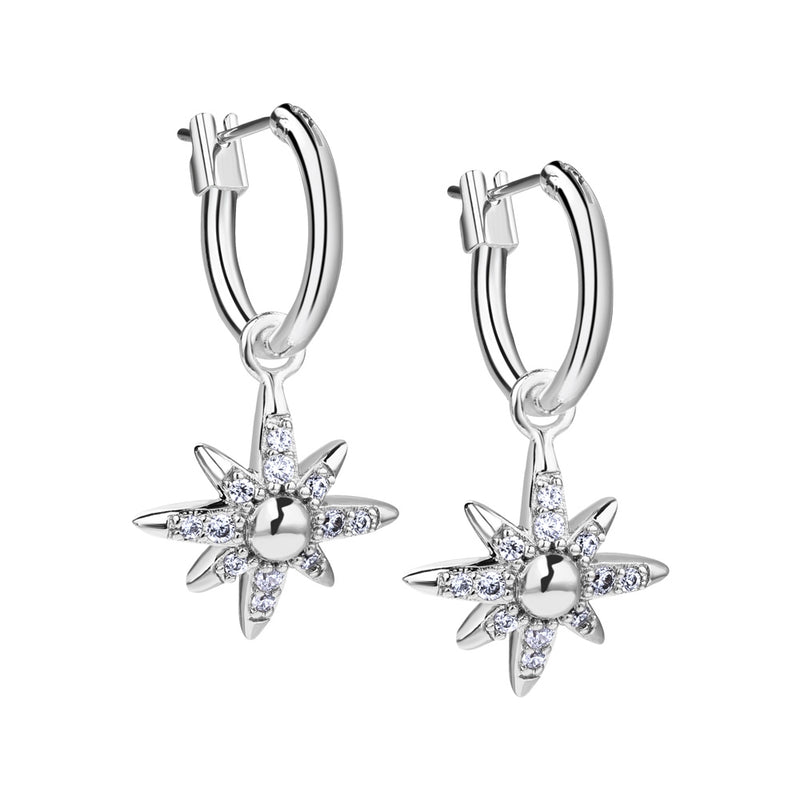Newbridge Amy Huberman Silver Plated Star Earrings with Clear Stones