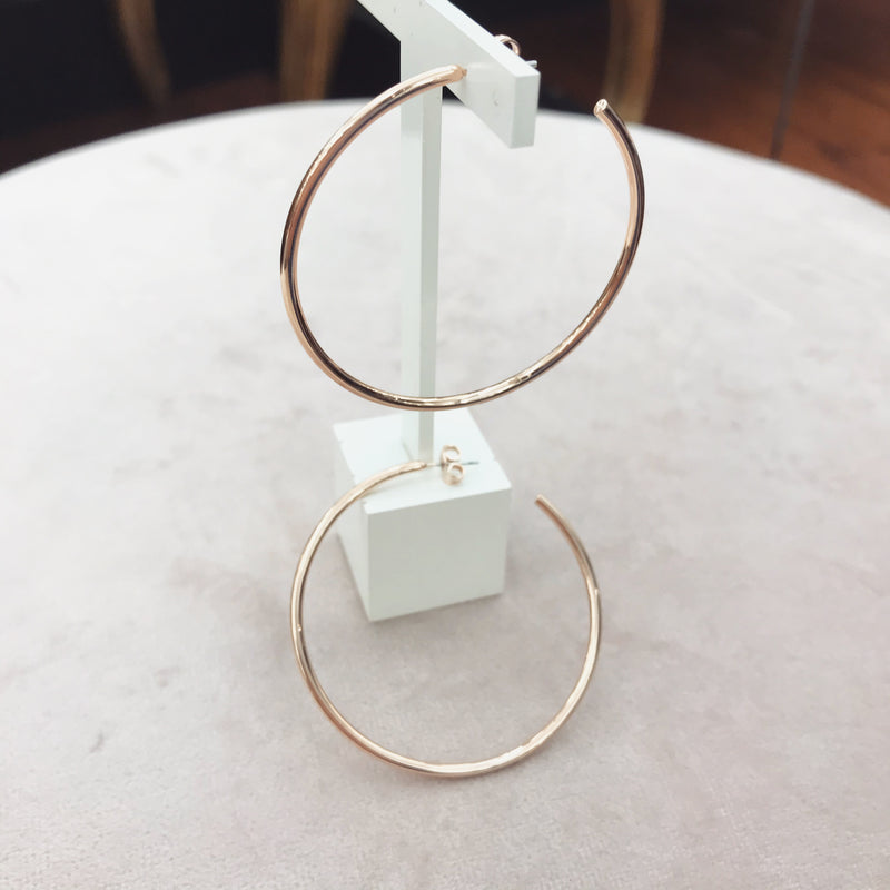 Absolute Hoop Earrings - Rose Gold