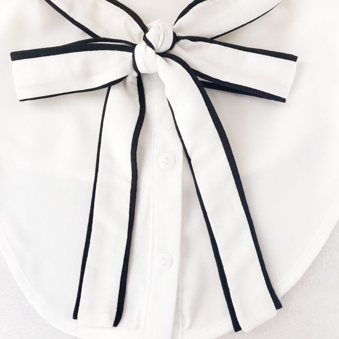 Bow Tie Shirt Collar - White