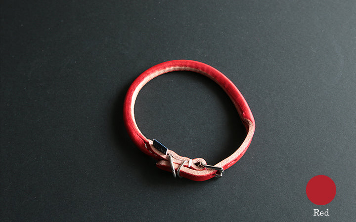 Goto-Tomorrow Dog leather Collar Red