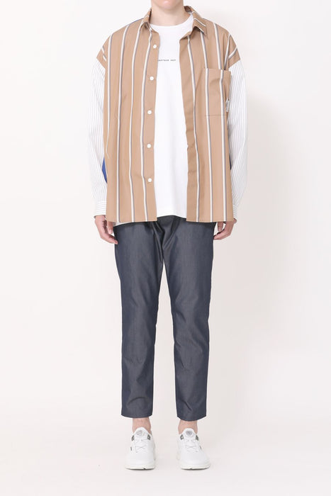 Minotaur - Tech Stripe Shirt Brown/Blue