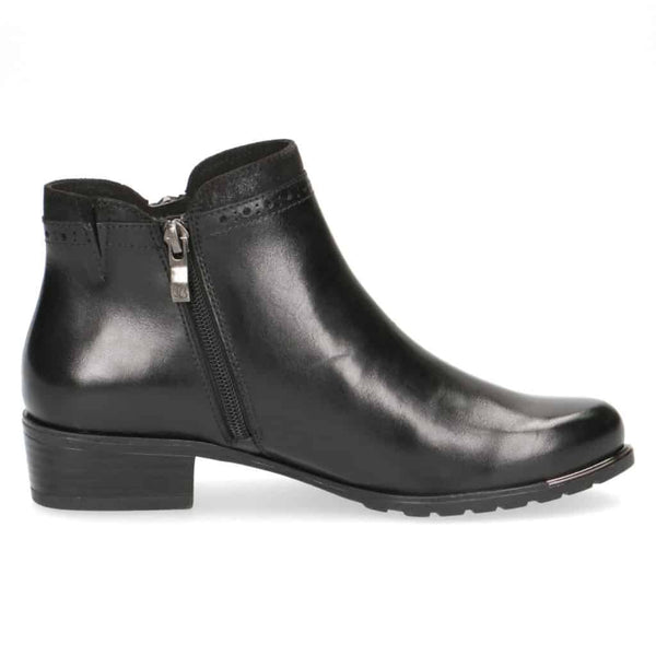 Caprice Black Ankle Boot