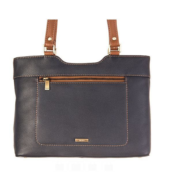 Nova Leathers Navy & Tan Twin Shoulder Strap