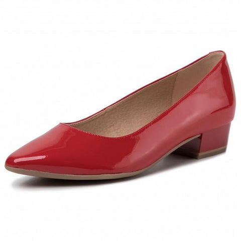 Caprice Red Patent Pump
