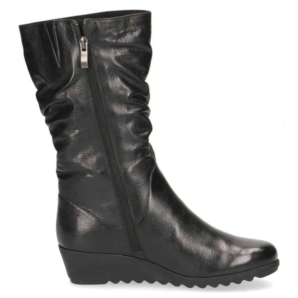 Caprice Mid Calf Low Wedge Boot