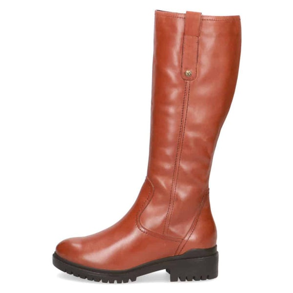 Caprice All Leather Tan Country Boot