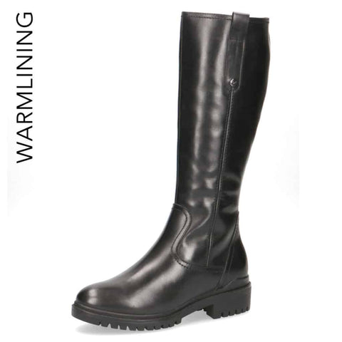 Caprice All Leather Black Country Boot