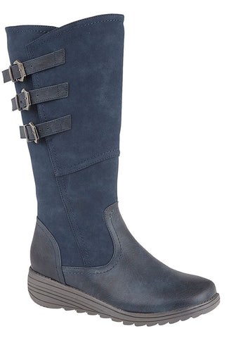 Cipriata Navy Stylish 3/4 Long Boot