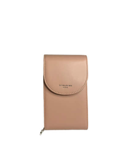 David Jones Taupe Cross Body Organiser