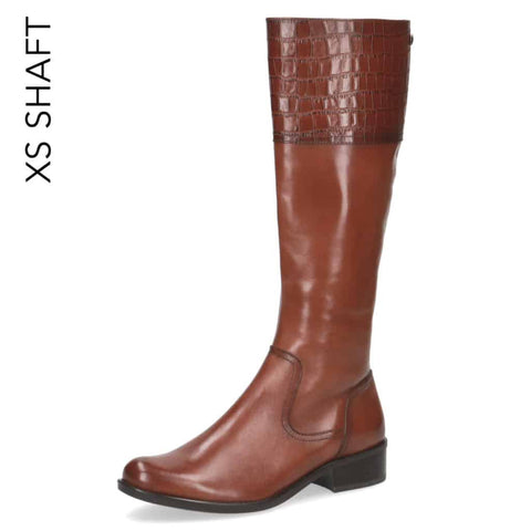 Caprice Slim Calf Croc Top Long Boot