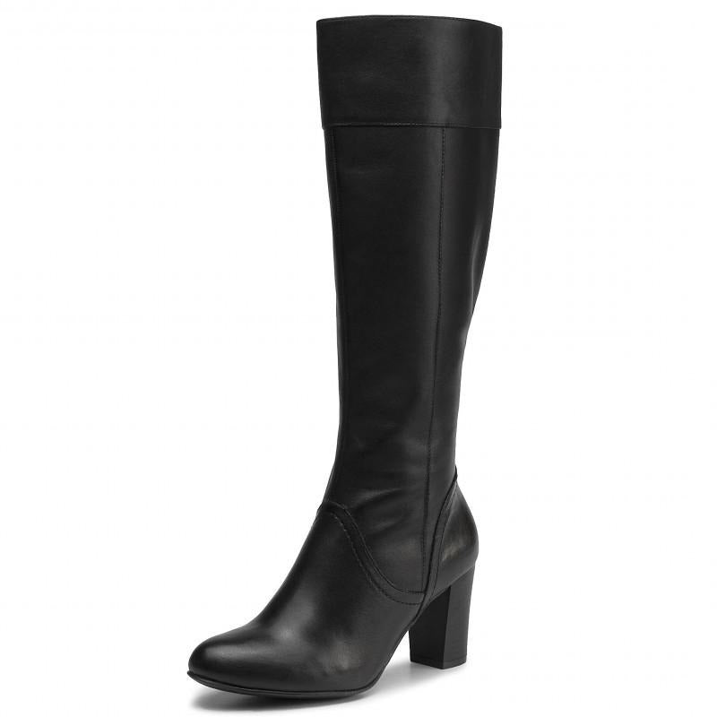 Caprice Black Knee High Boots