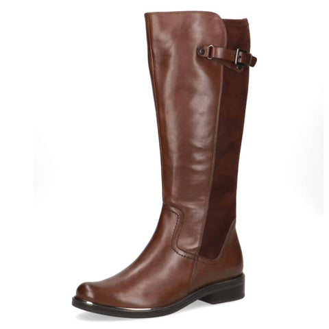 Caprice Dark Brown Leather/Suede Long Boot