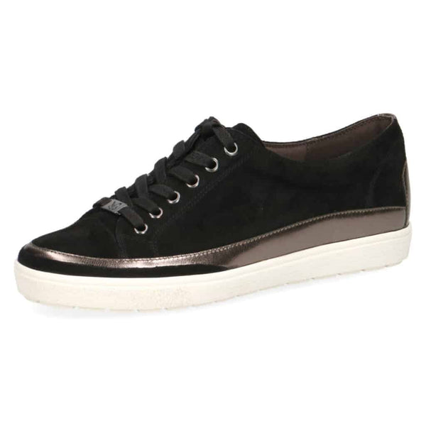 Caprice Black Lace-Up Sneaker