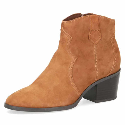 Caprice Tan Neat Ankle Boots