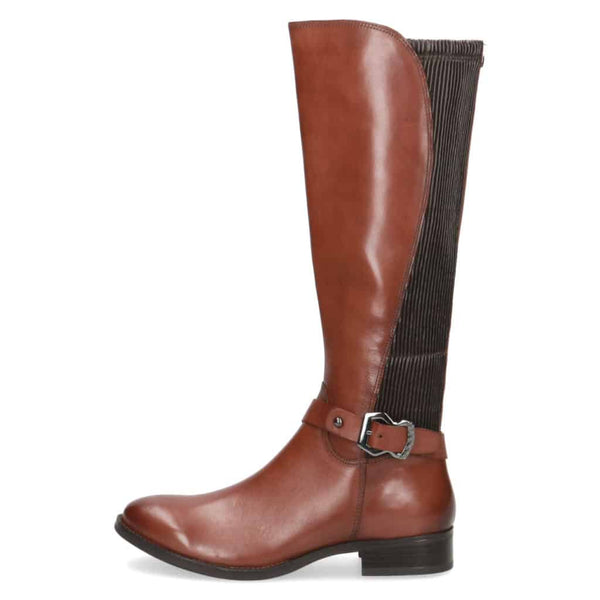 Caprice Tan Leather Long Boot