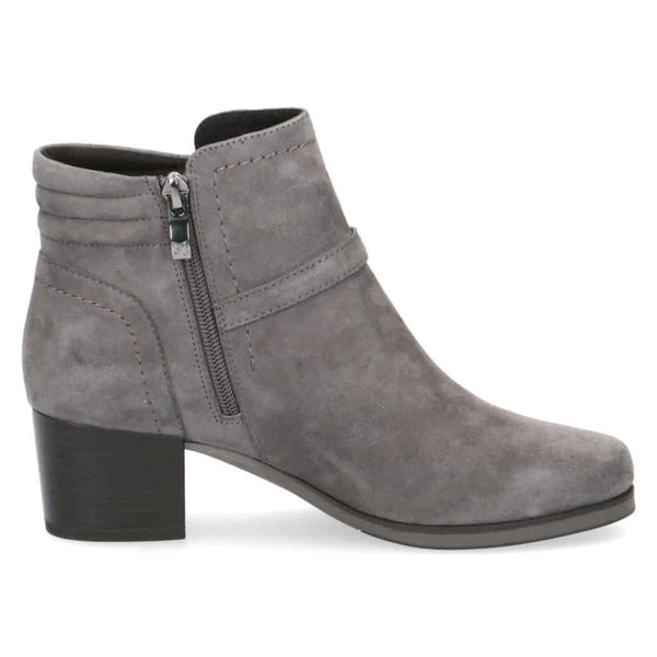 Caprice Grey Suede Ankle Boot
