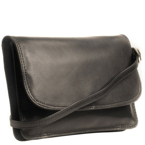 Nova Leathers Black Classic Cross Body Bag