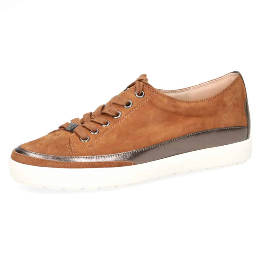 Caprice Tan Lace-Up Sneaker