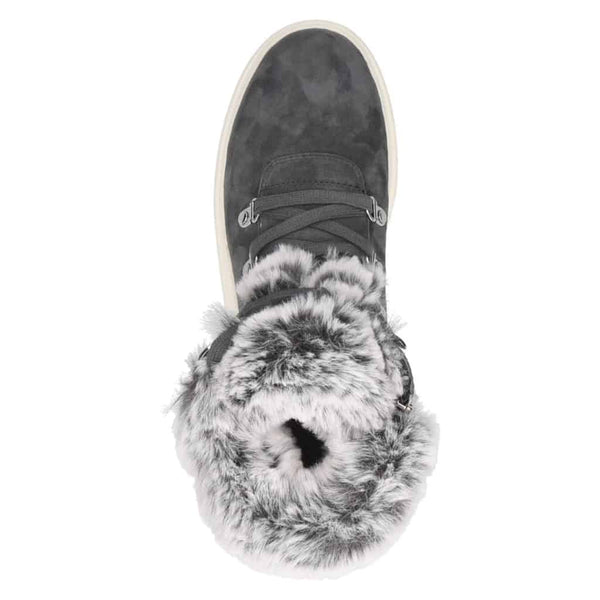 Caprice Casual Ankle Boot with Fur Trim