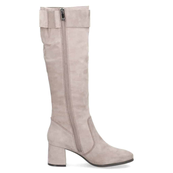 Caprice Taupe Black Long Boot