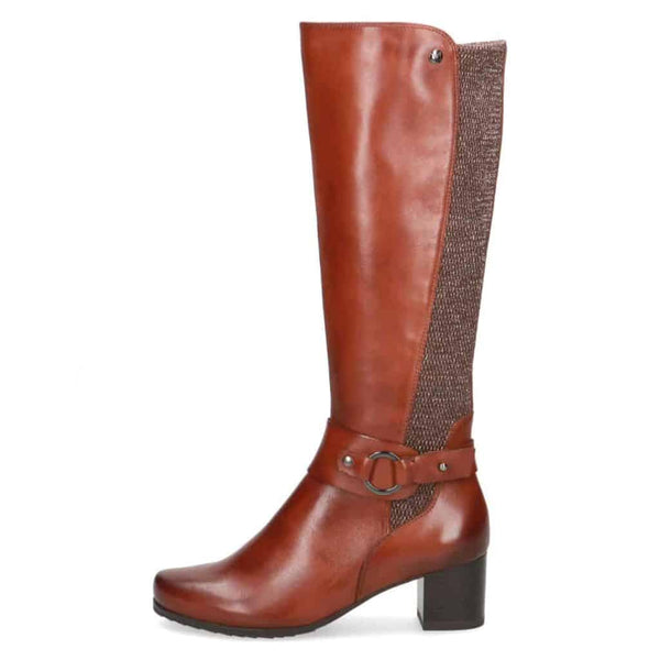 Caprice Tan Wide Fit Calf Long Boot