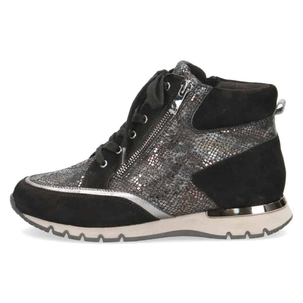 Caprice High-Top Black Casual Trainer