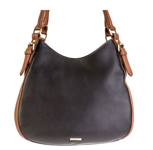 Nova Leather Shoulder Twin Strap Bucket Bag