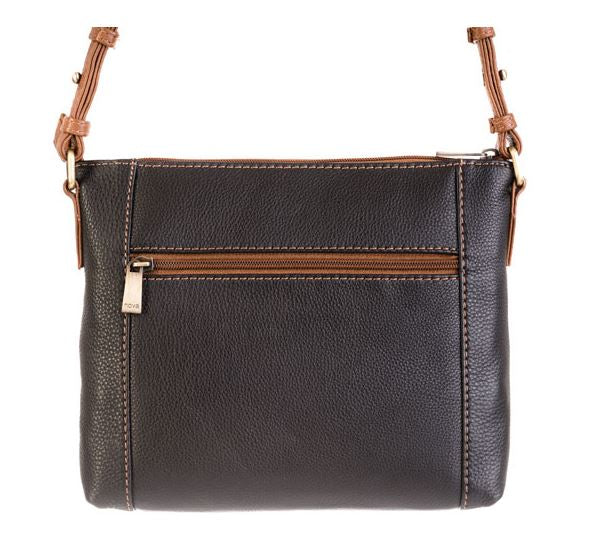 Nova Leathers Small Navy & Chestnut Cross Body Bag