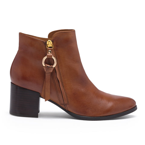 Regarde Le Ciel Tan Leather Ankle Boot