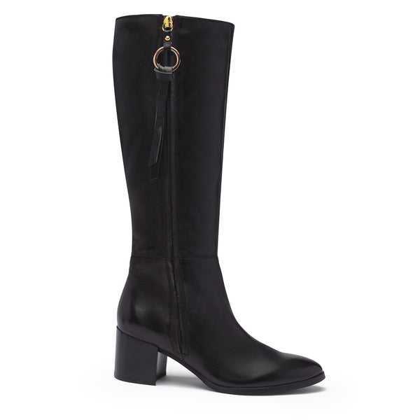 Regarde La Ciel Black Leather Long Boot