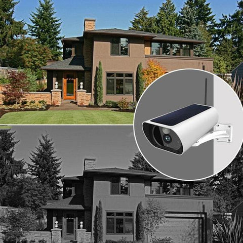 advanced night vision solar powered security camera